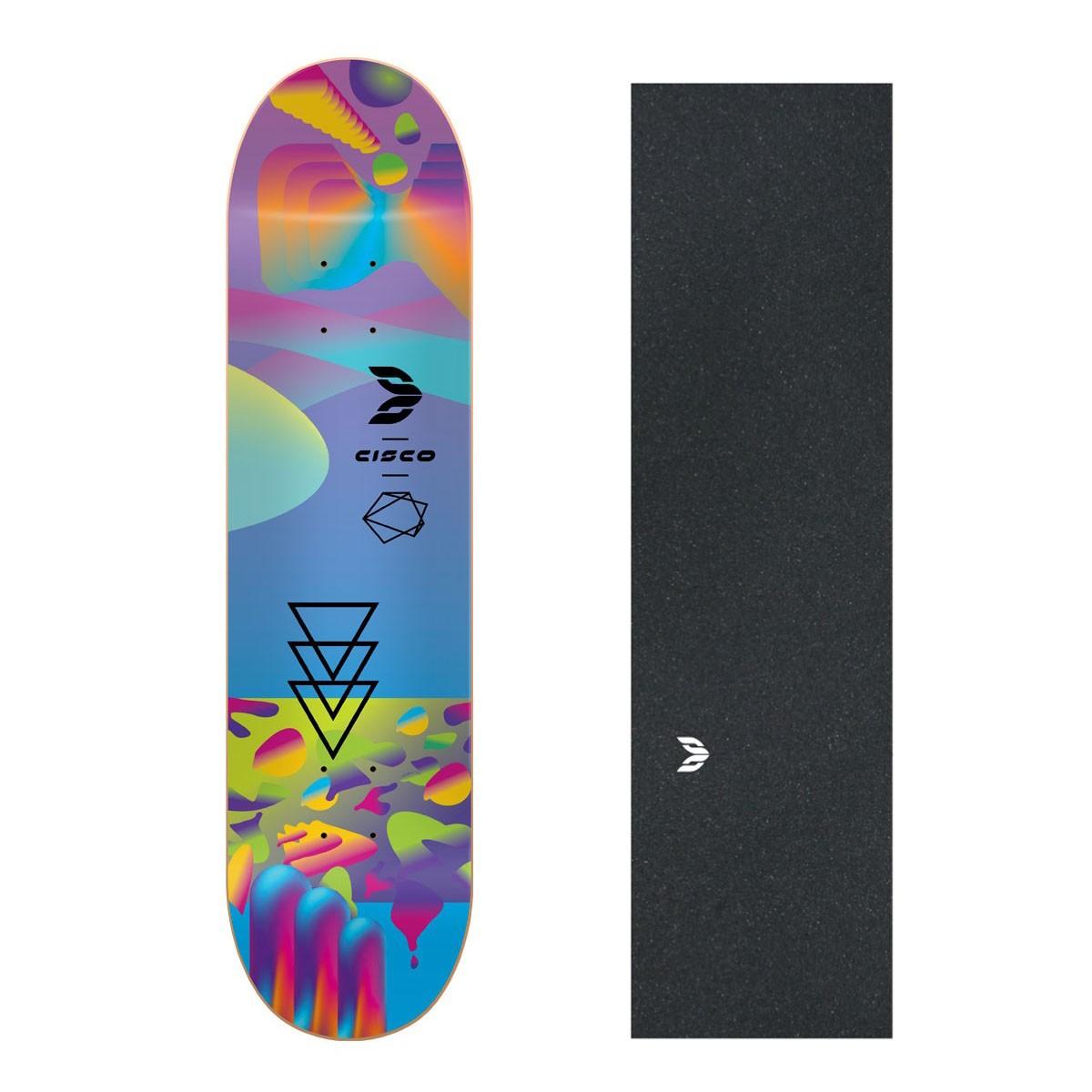 "Shape Cisco Skate Fiber Decks Neon Blue 8"" + Lixa Emborrachada"
