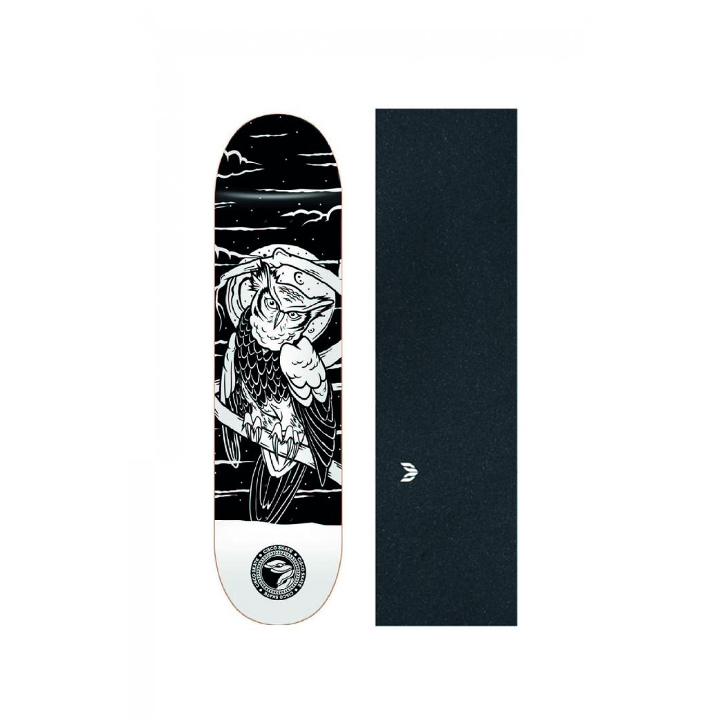 """Shape Cisco Skate Fiber Decks Serie Animais Noturnos Owl 8.125"""" + Lixa Emborrachada"""