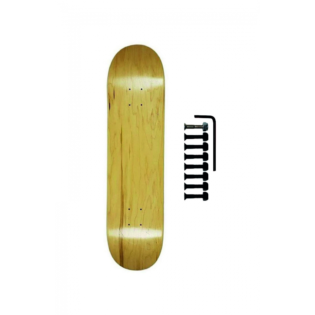 Shape Cisco Skate Maple Canadense Importado Liso + Parafuso de Base