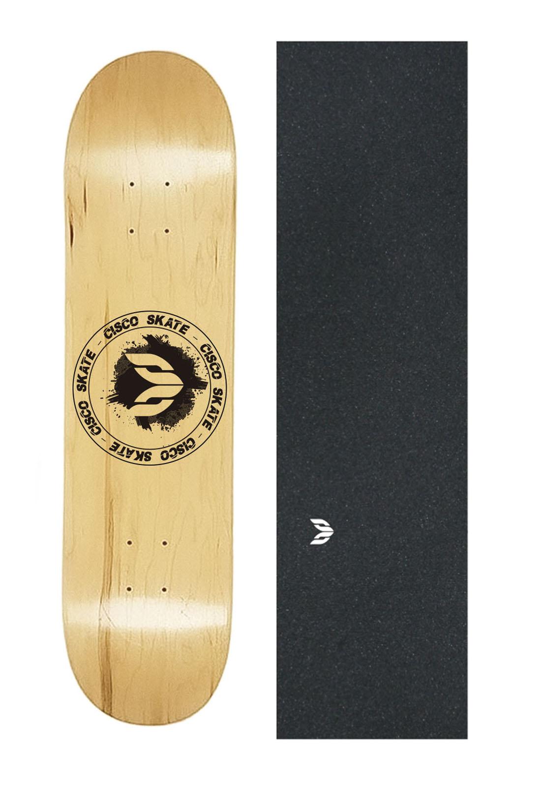 Shape Cisco Skate Maple Canadense Importado Logo Black + Lx Emborrachada