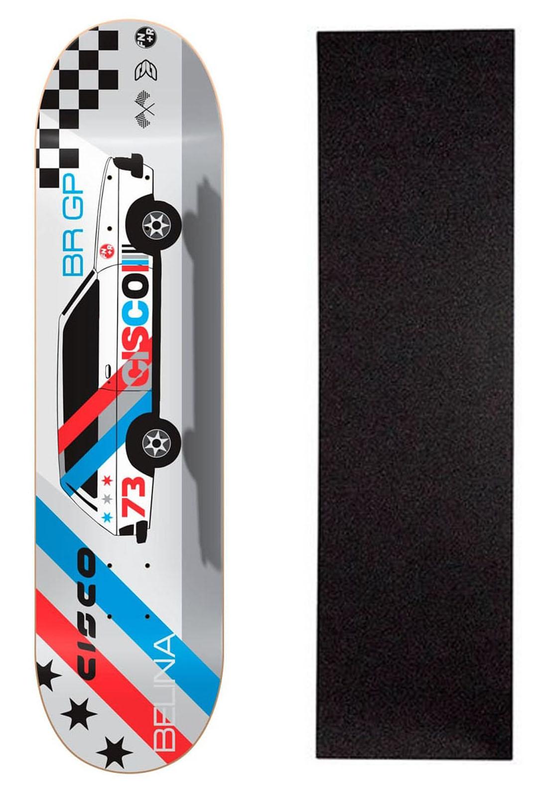 """Shape Cisco Skate Marfim Belina 8"""" + Lixa Grátis"""