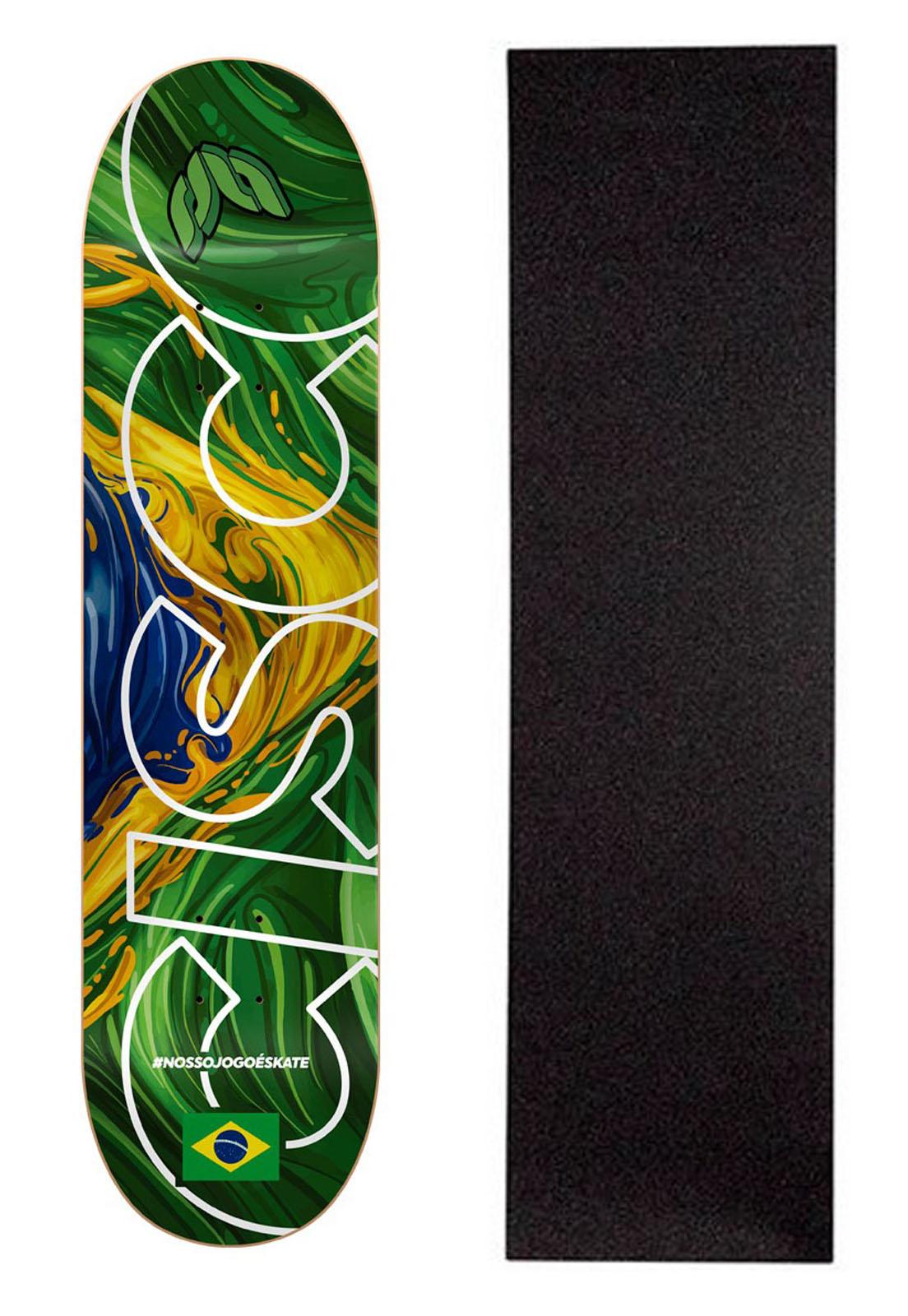 """Shape Cisco Skate Marfim Braza - 8/8.125/8.25"""" #Nossojogoéskate + Lixa Grátis"""