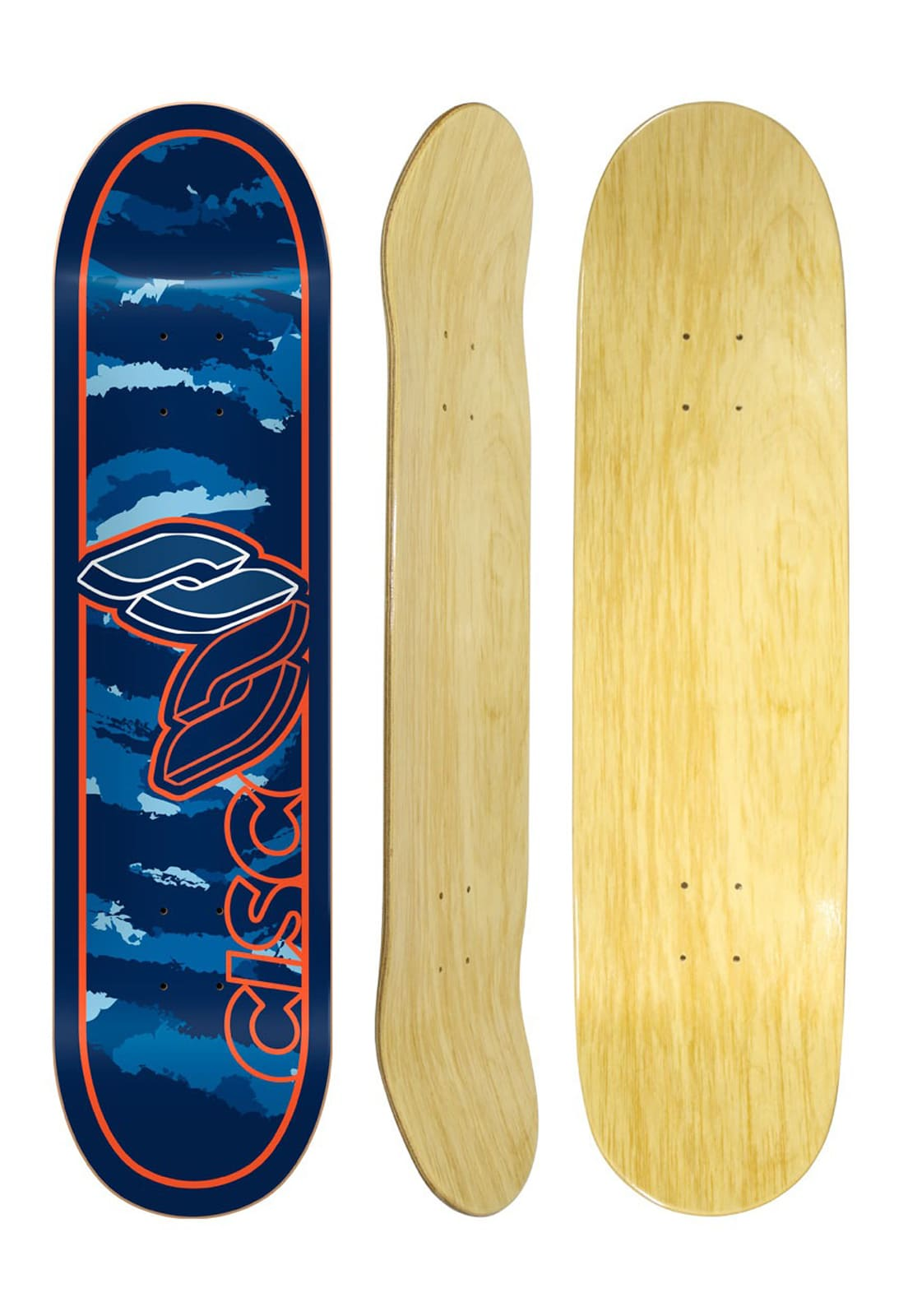 Shape Cisco Skate Marfim Camu Blue 7.75""