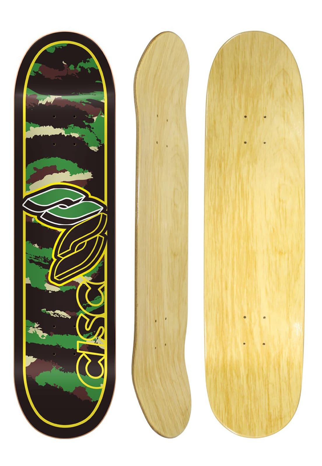 "Shape Cisco Skate Marfim Camu Green 8"""