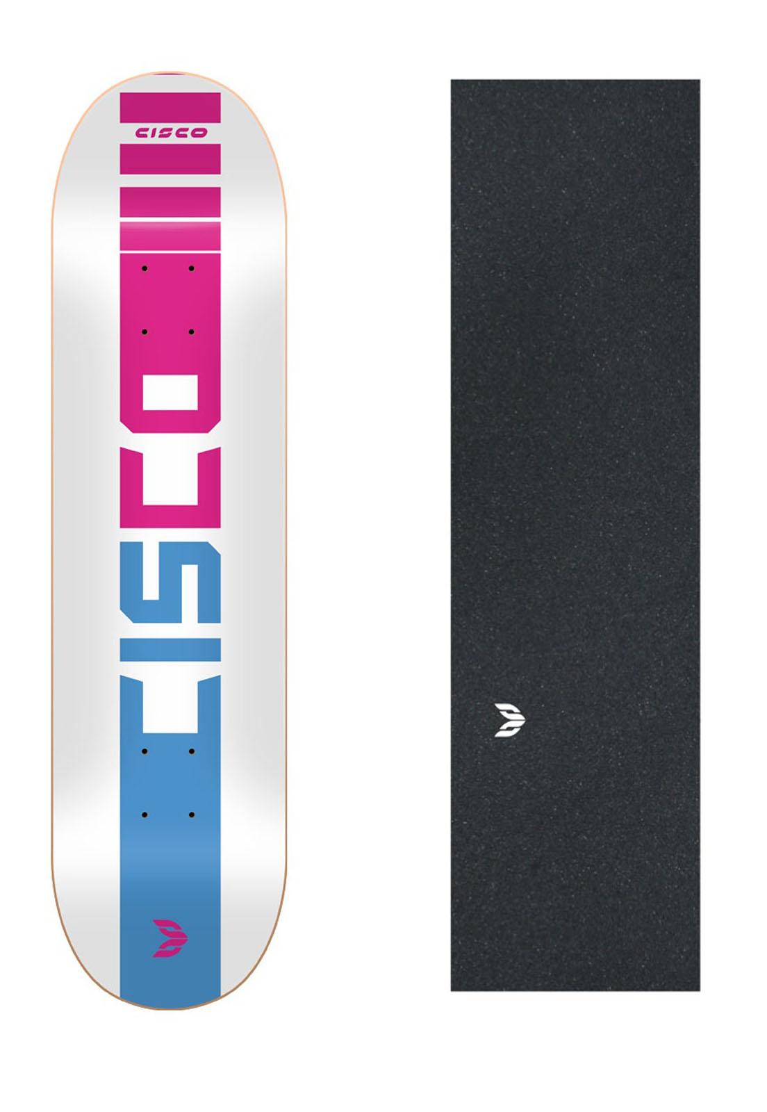 "Shape Cisco Skate Marfim Company Pink 7.75"" + Lixa Emborrachada"