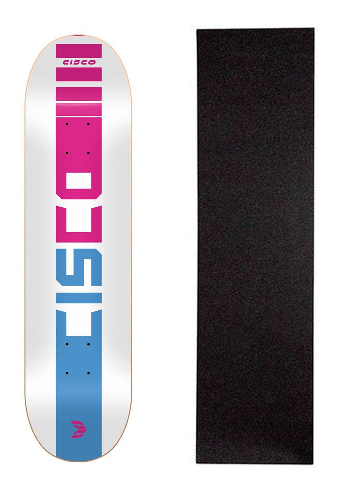 """Shape Cisco Skate Marfim Company Pink 7.75"""" + Lixa Grátis"""