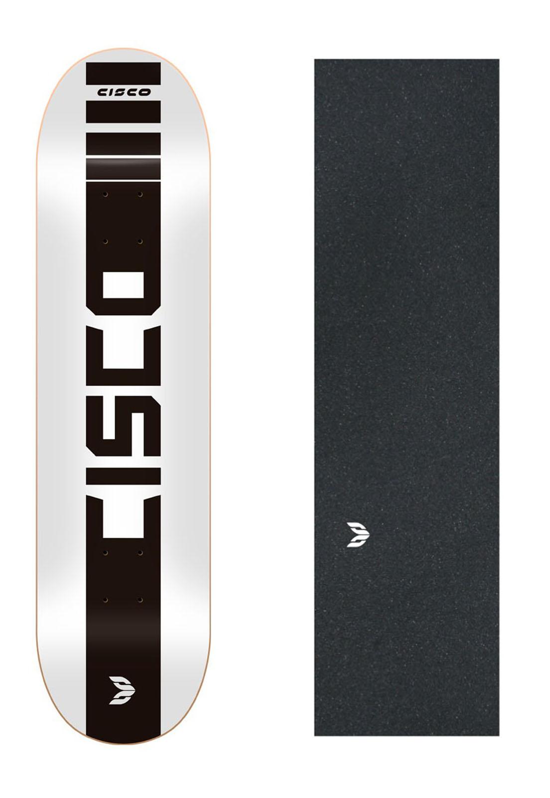 "Shape Cisco Skate Marfim Company White 8"" + Lixa Emborrachada"