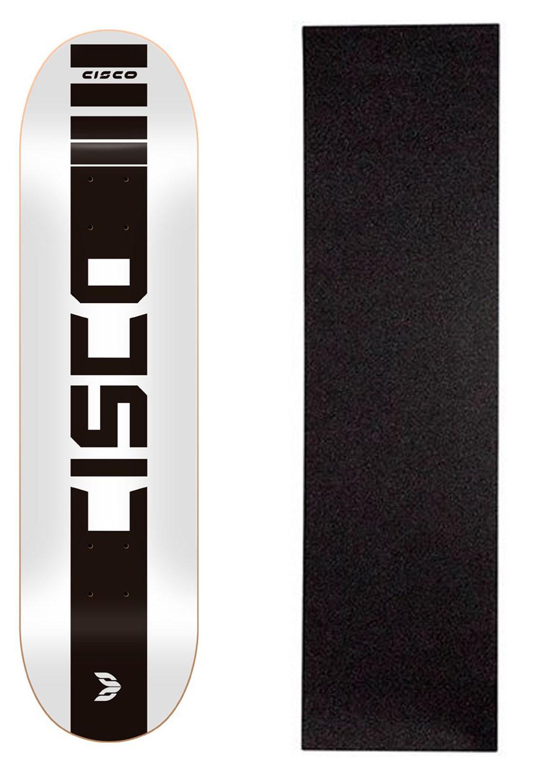 """Shape Cisco Skate Marfim Company White 8"""" + Lixa Grátis"""