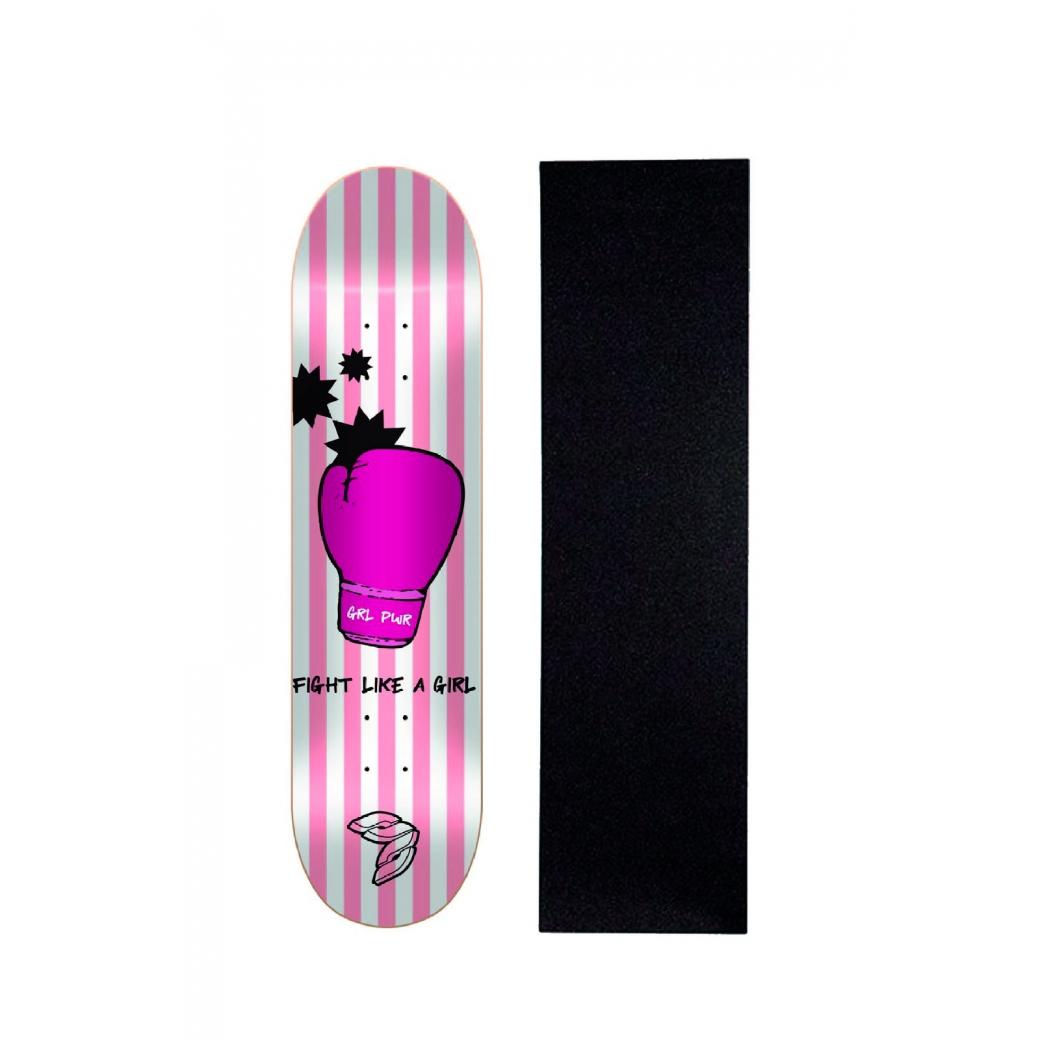 "Shape Cisco Skate Marfim Feminino Glove 8"" + Lixa Brinde"