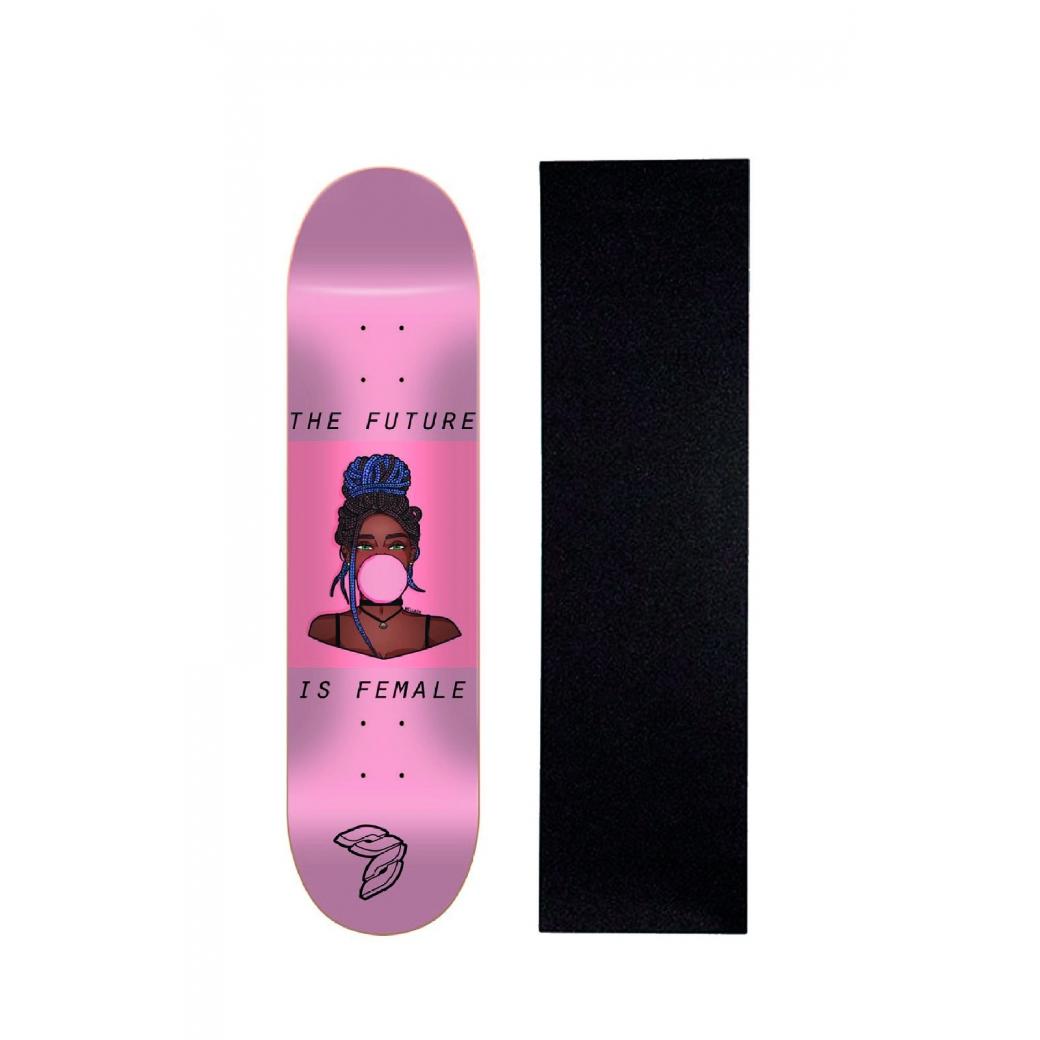"Shape Cisco Skate Marfim Feminino Gum 8"" + Lixa Brinde"