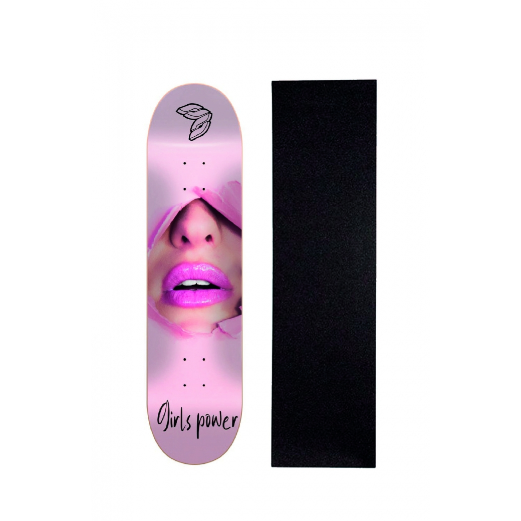 "Shape Cisco Skate Marfim Feminino Powerpuff 8"" + Lixa Brinde"