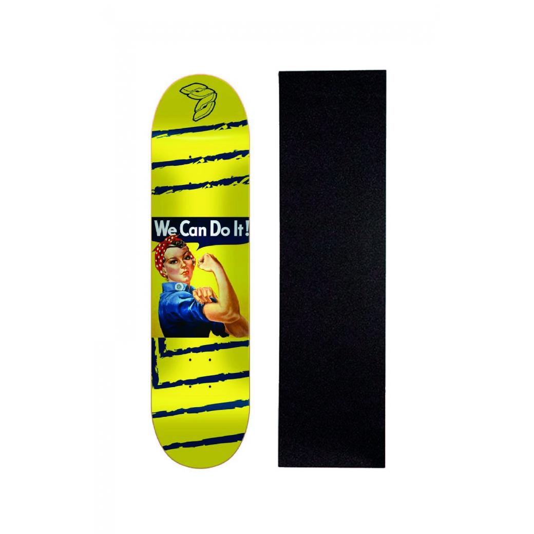 "Shape Cisco Skate Marfim Feminino Rosie 8"" + Lixa de Brinde"