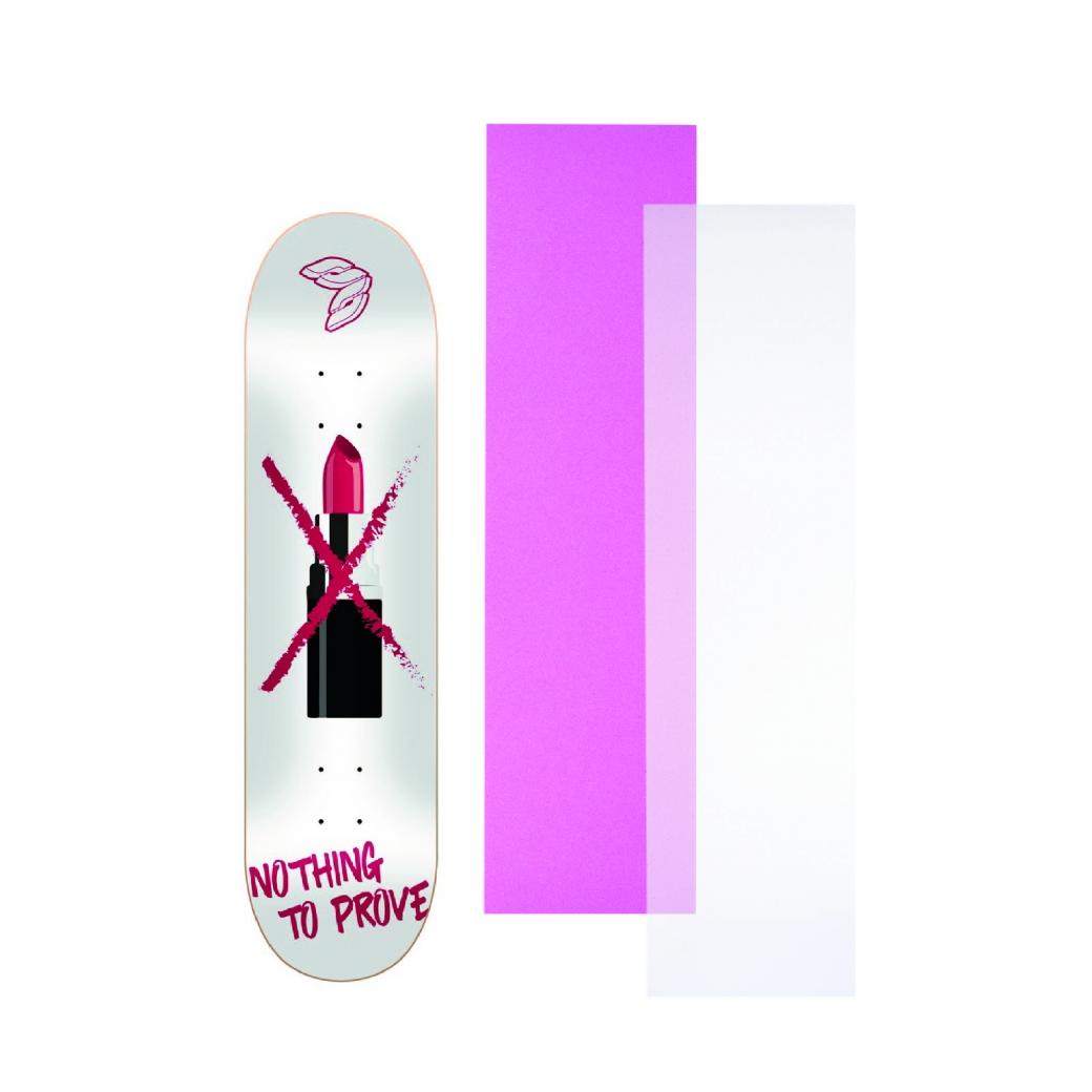 """Shape Cisco Skate Marfim Feminino Strong Women 8"""" + Lixa Rosa ou Transparente"""