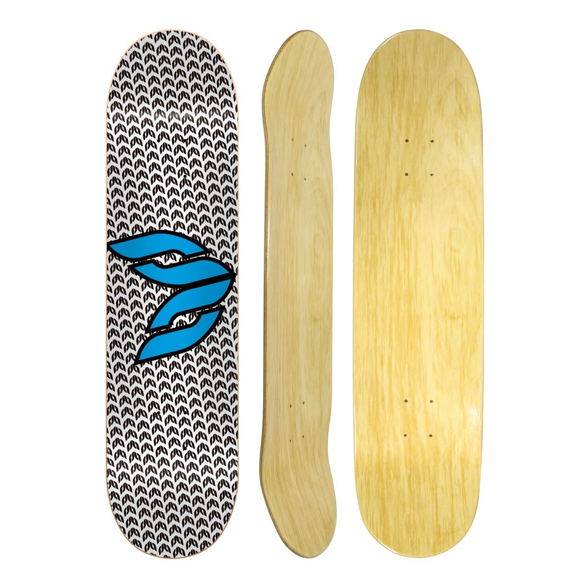Shape Cisco Skate Marfim Logo Blue 8""