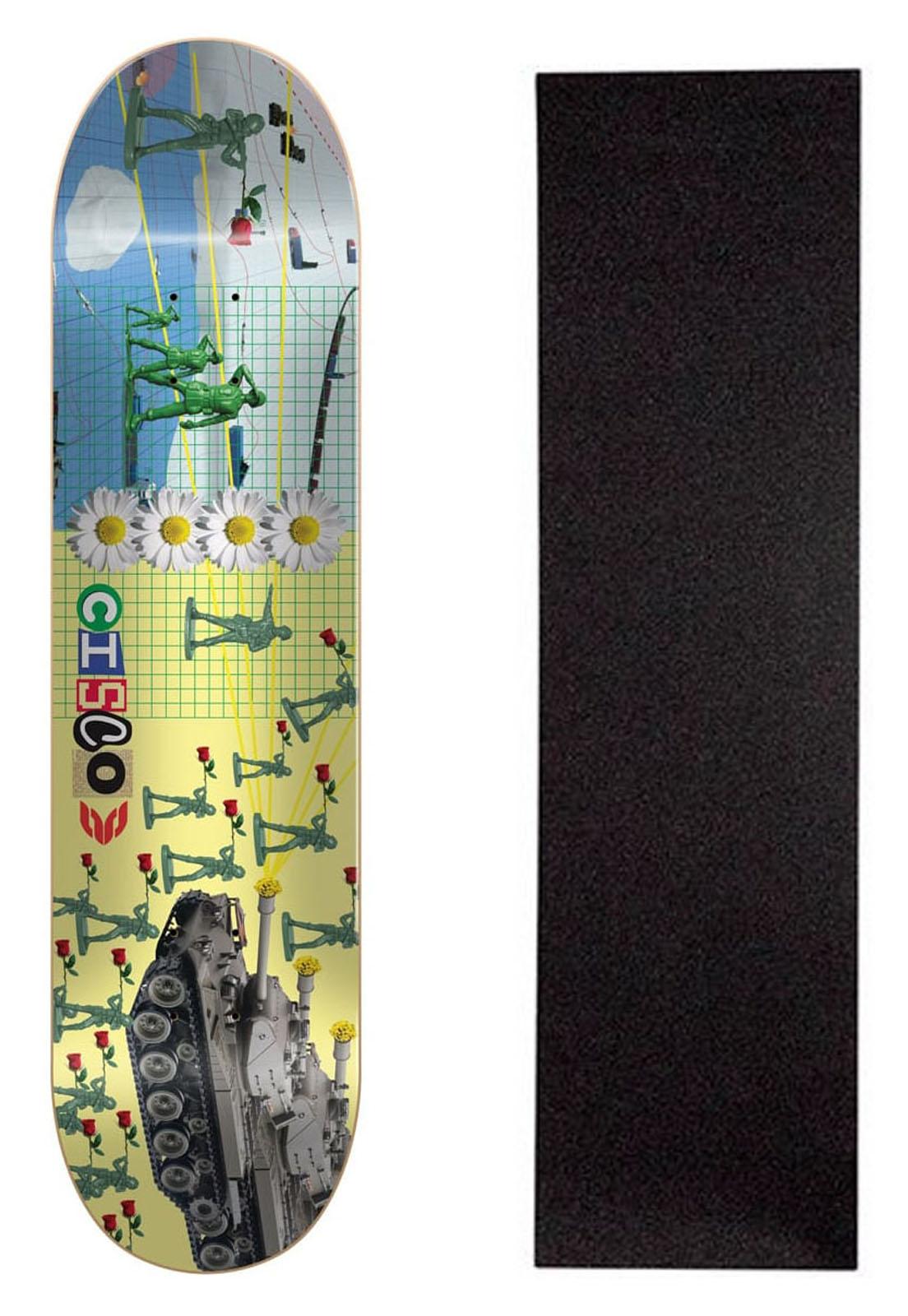 """Shape Cisco Skate Marfim Love 8.25"""" + Lixa Grátis"""