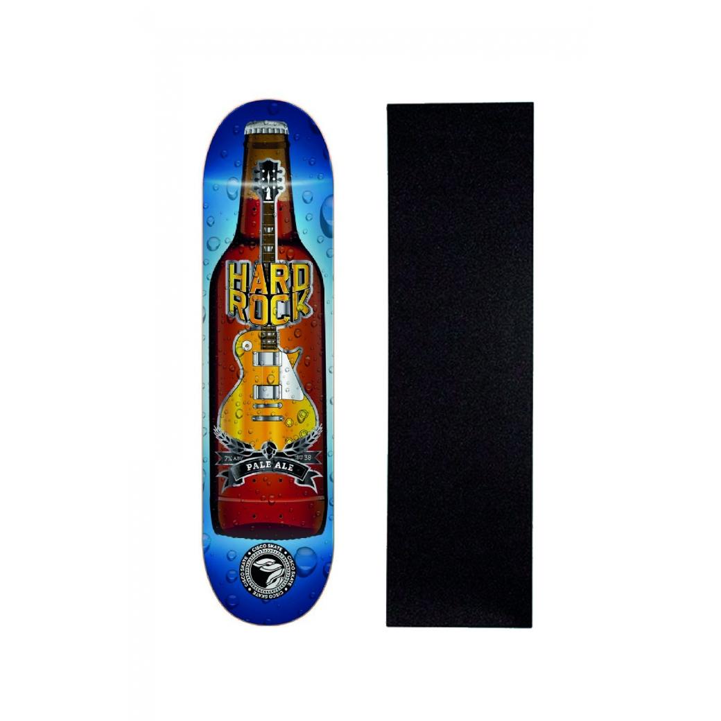 "Shape Cisco Skate Marfim Music Hard Rock 8.5"" + Lixa Grátis"