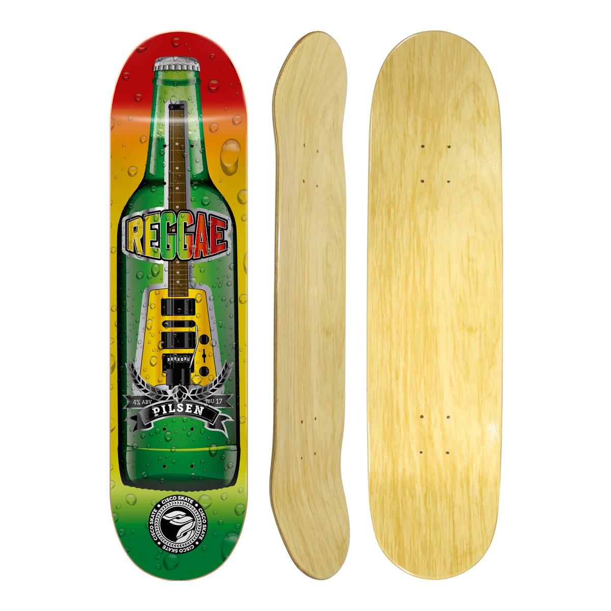 "Shape Cisco Skate Marfim Music Raggae 8"""