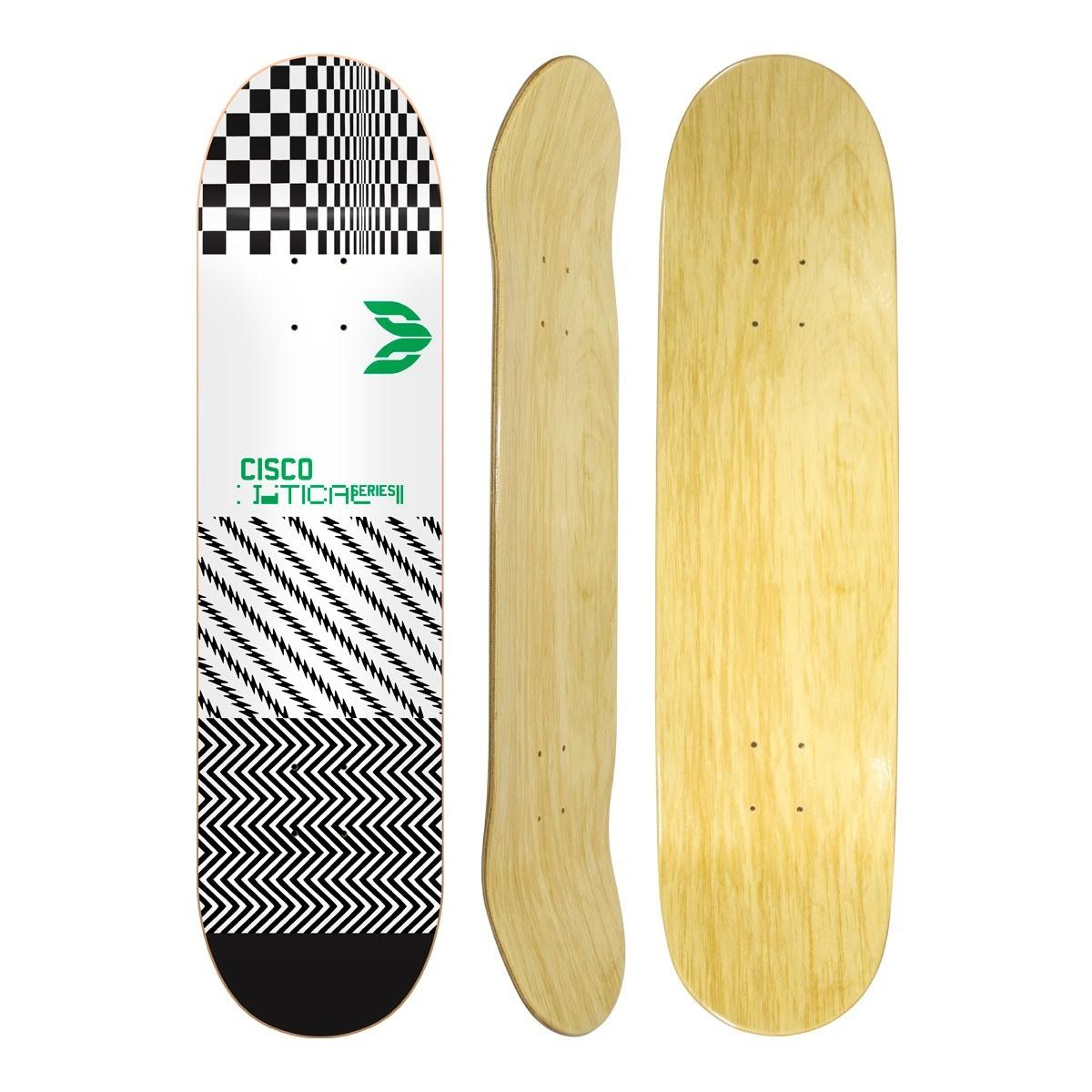 """Shape Cisco Skate Marfim Optical Green 8.25"""""""