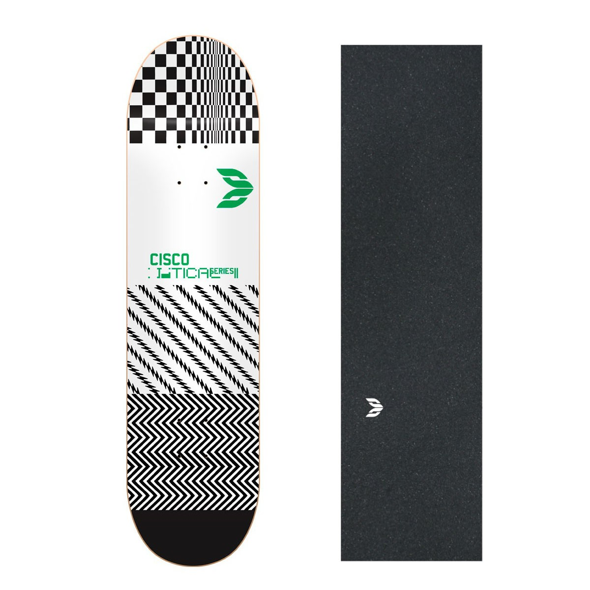 "Shape Cisco Skate Marfim Optical Green 8.25"" + Lixa Emborrachada"
