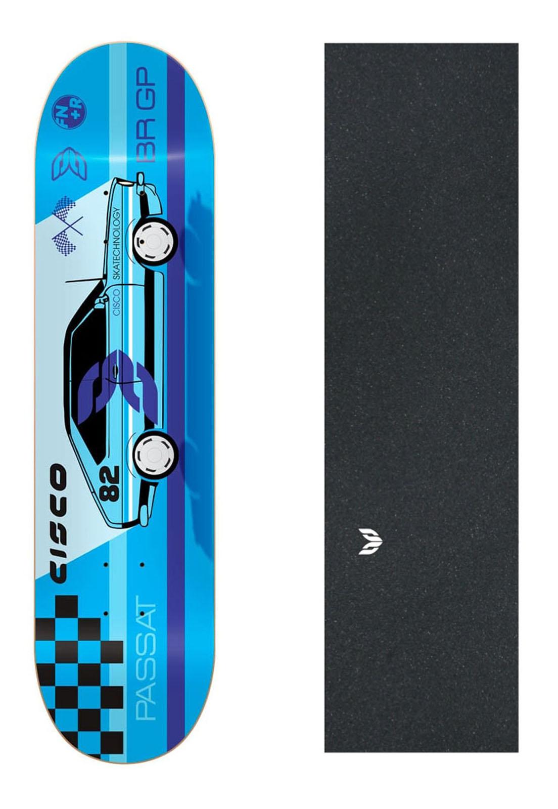 "Shape Cisco Skate Marfim Passat 8.125"" + Lixa Emborrachada"
