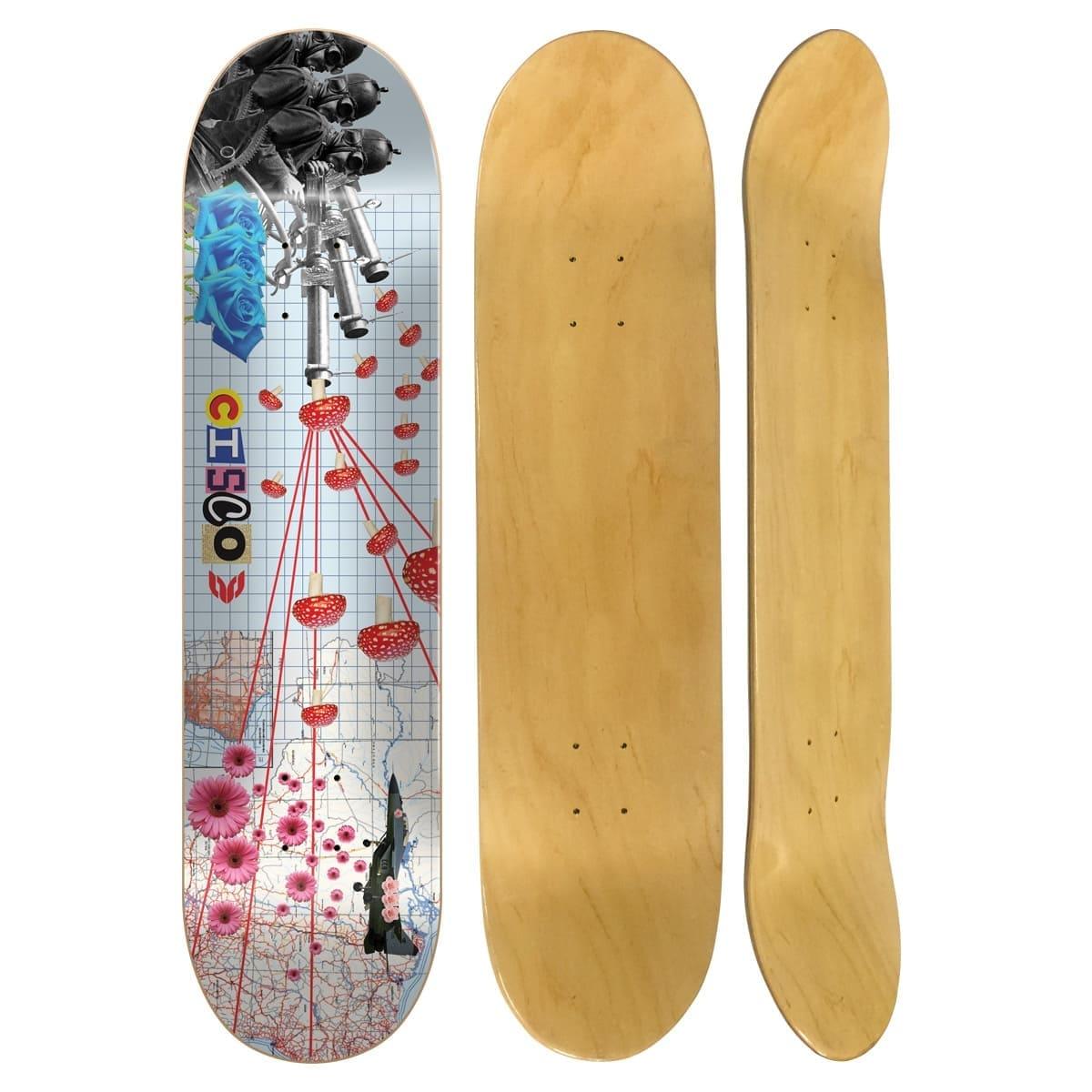 "Shape Cisco Skate Marfim Peace 8.125"""