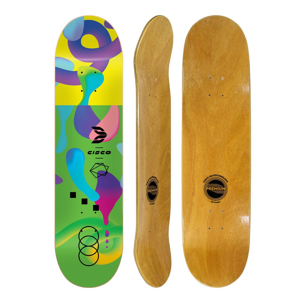 "Shape de Skate Cisco Fiber Neon Green 8.125"""