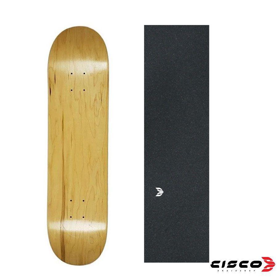 shape de Skate Cisco Marfim Liso + lixa Emborrachada 7.67/8/8.125/8.25/8.5