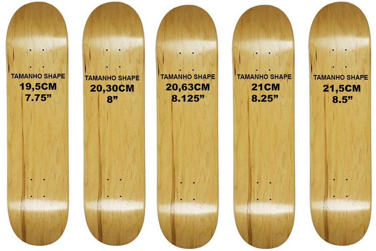 Shape de Skate Cisco Marfim Liso / Lixa Grátis