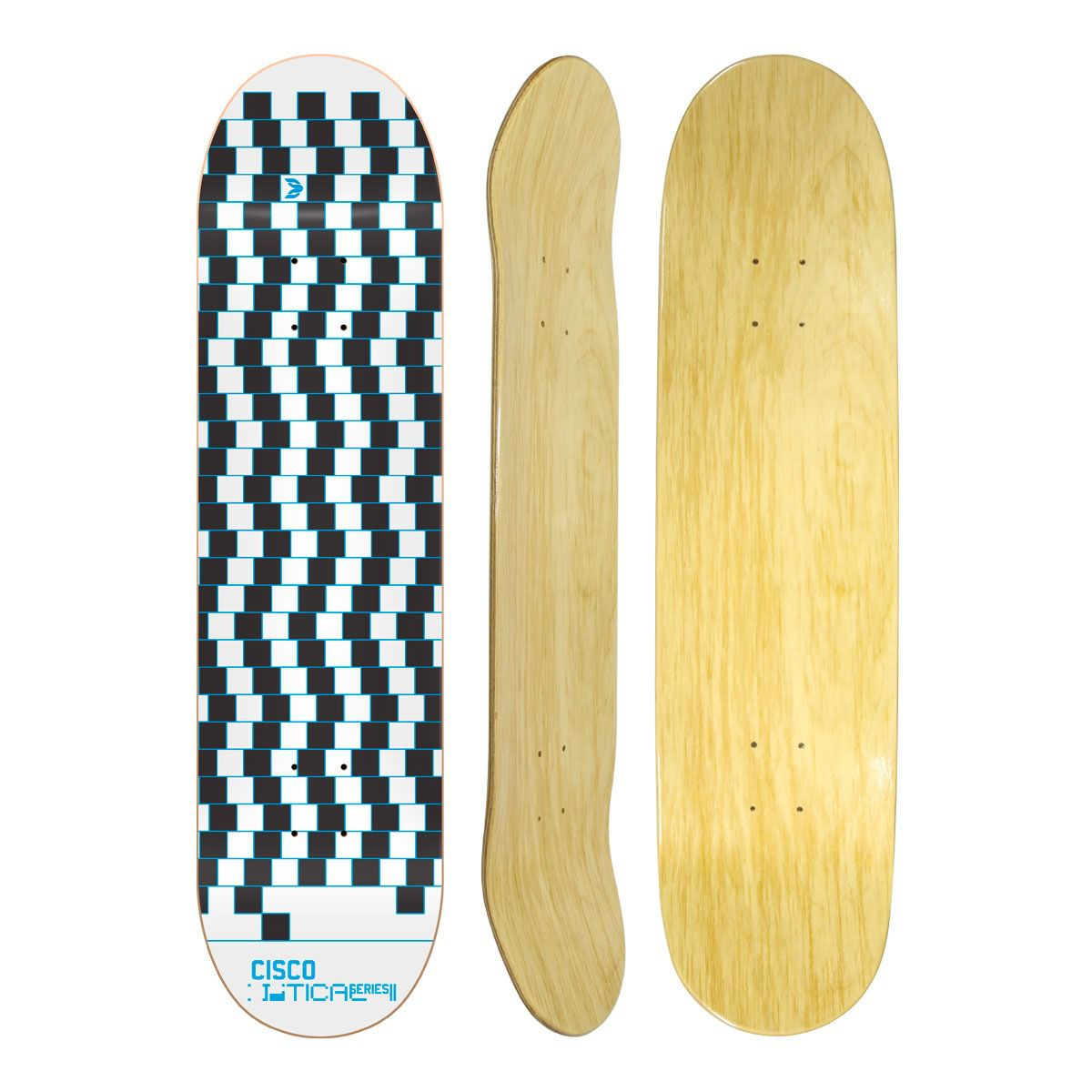 Shape de Skate Cisco Marfim Optical Blue 8.125""