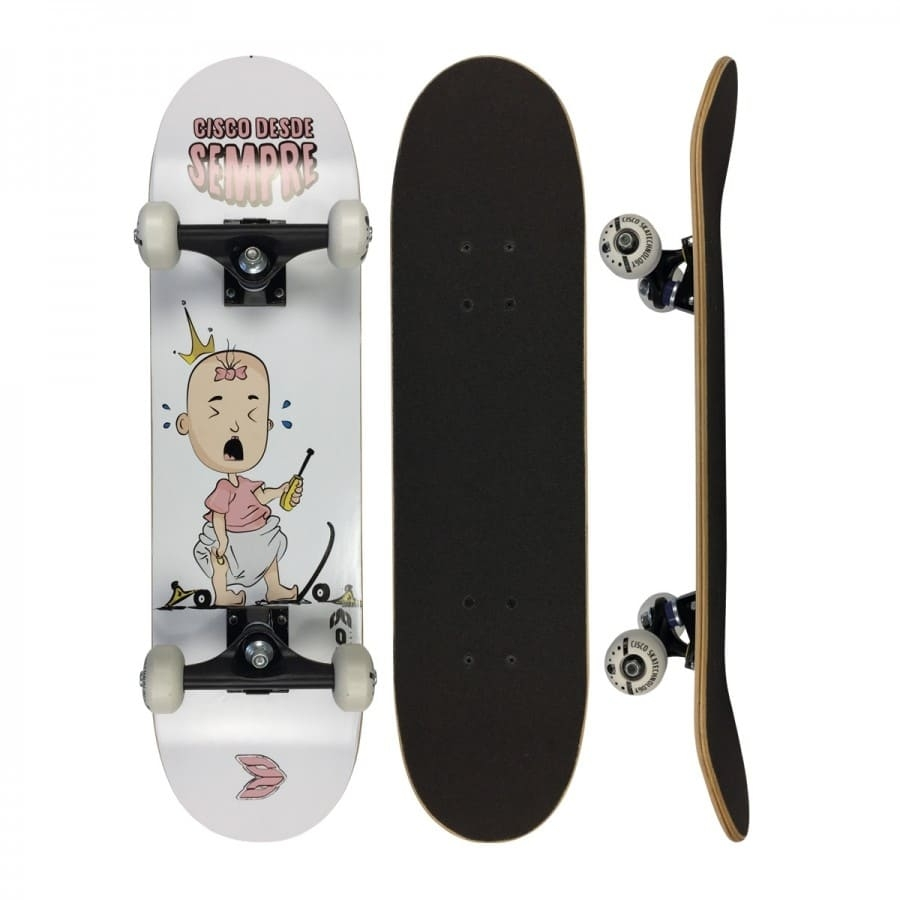 """Skate Infantil Cisco Desde Sempre Baby Girl 7.28"""""""