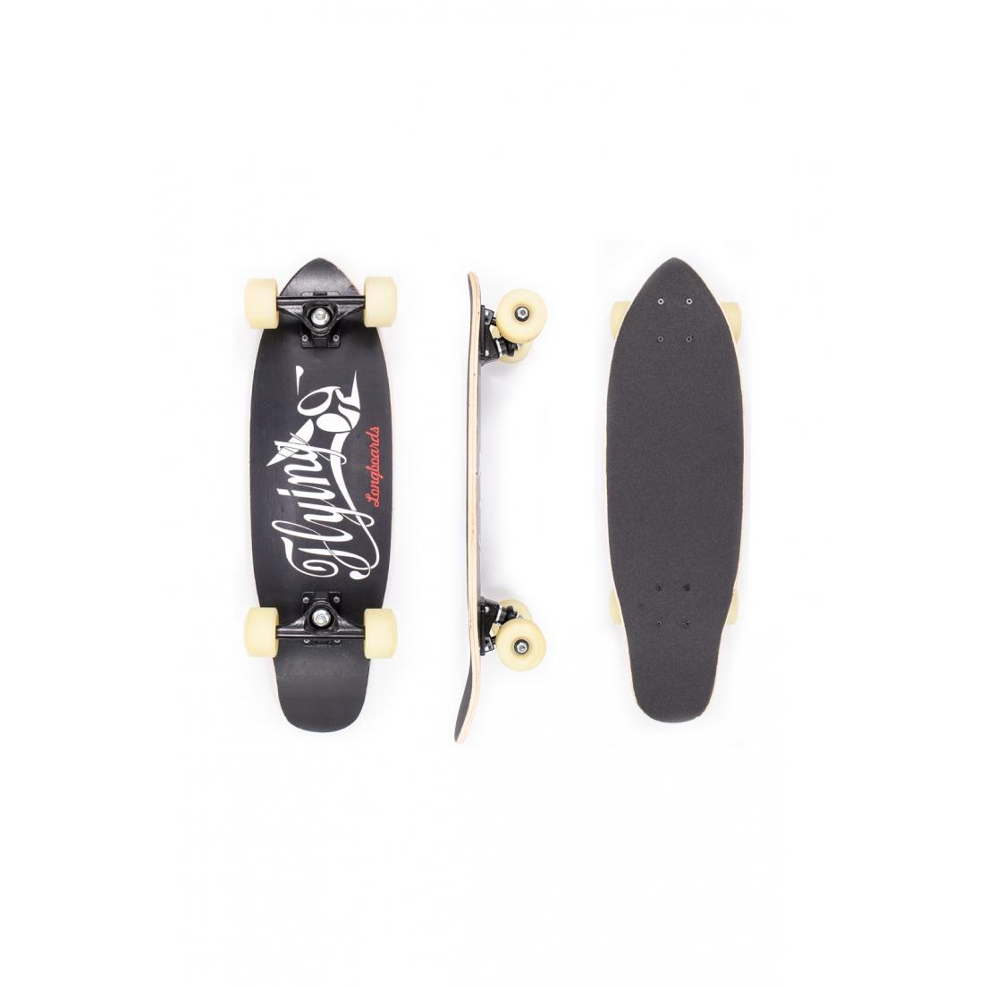 """Skate Mini Cruiser Flying Montado Logo Black 6.9"""""""