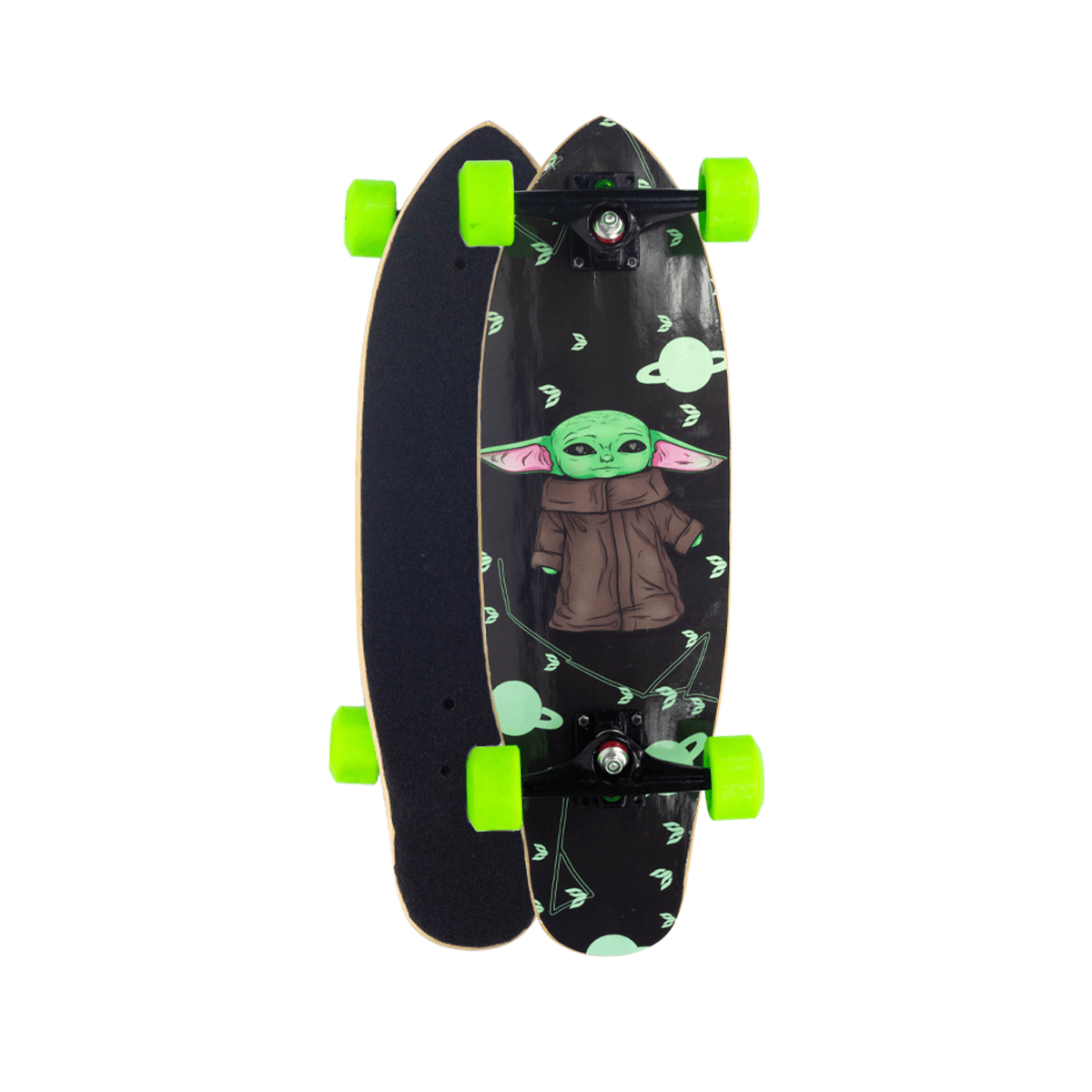 "Skate Mini Cruiser Flying Montado Yoda 6,7"""