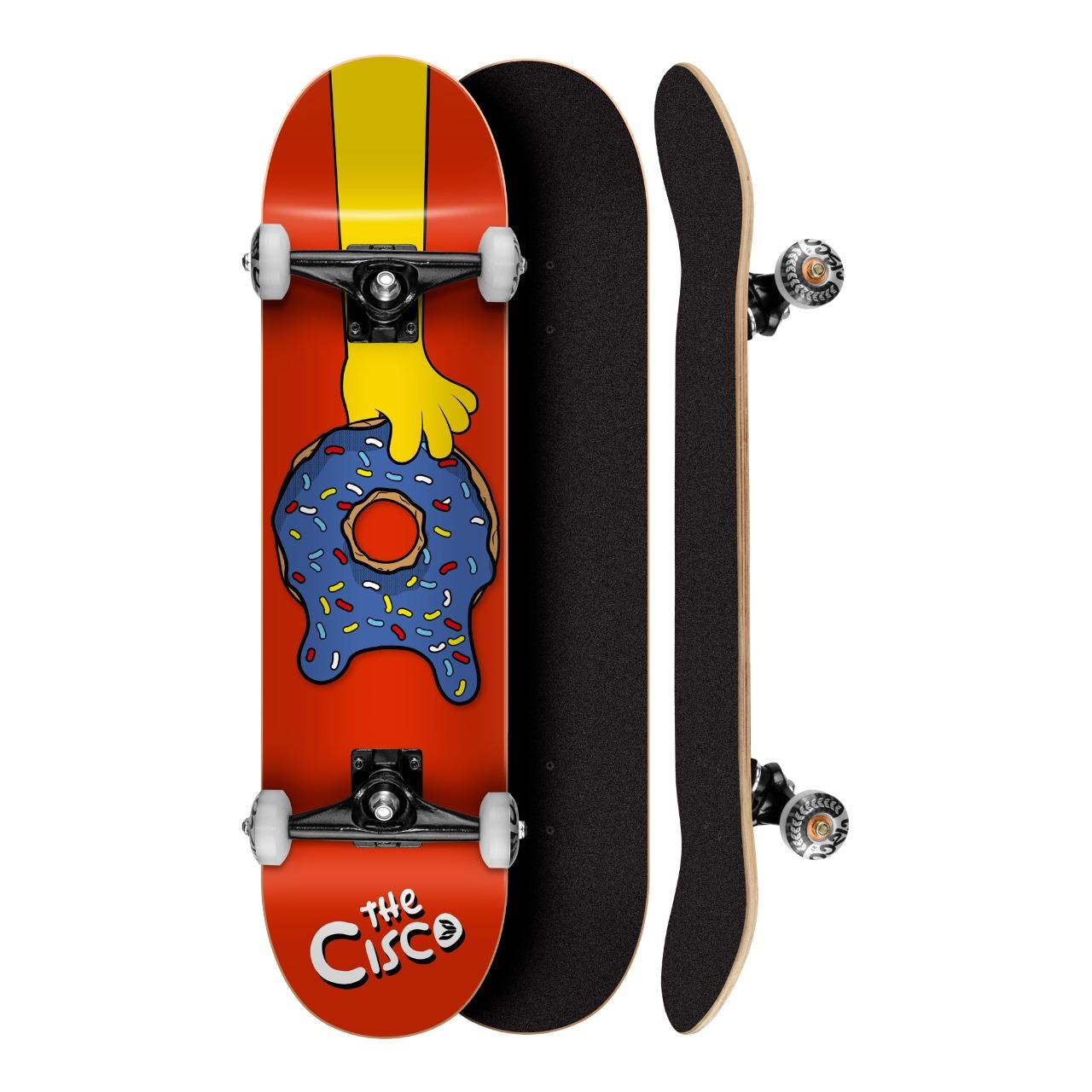Skate Montado Cisco Profissional Serie The Cisco Dunuts Red 8.0 - Abec 5