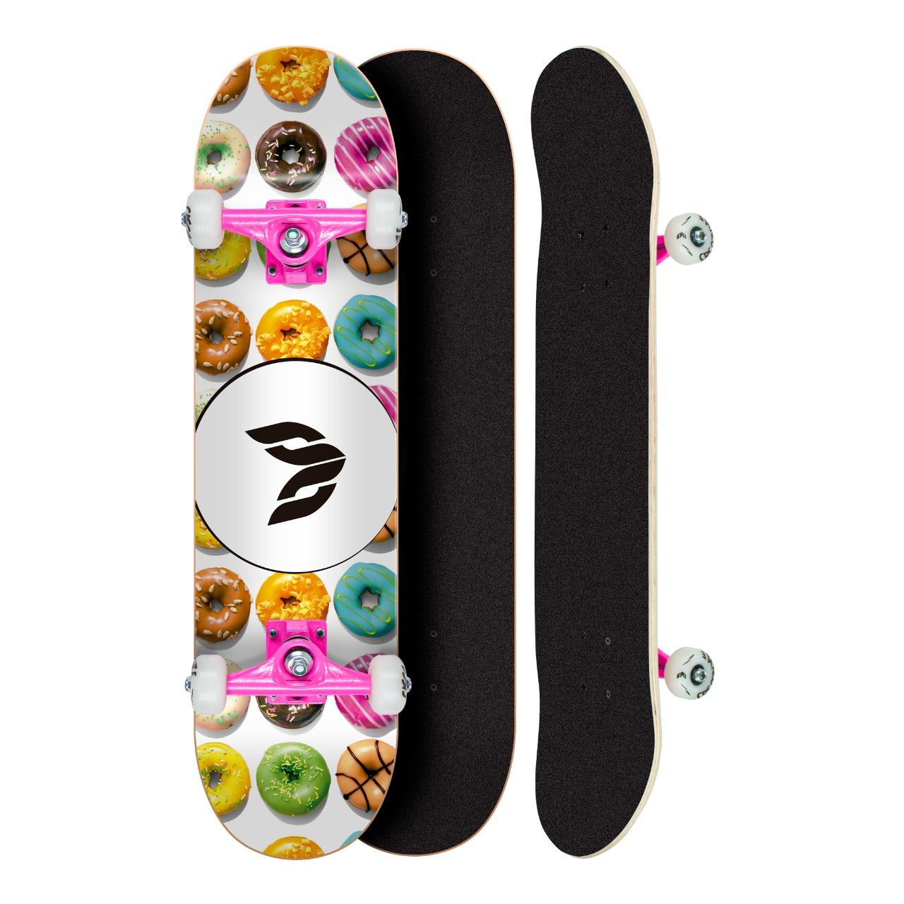 Skate Montado Profissional Cisco Feminino Dunuts - Abec 5