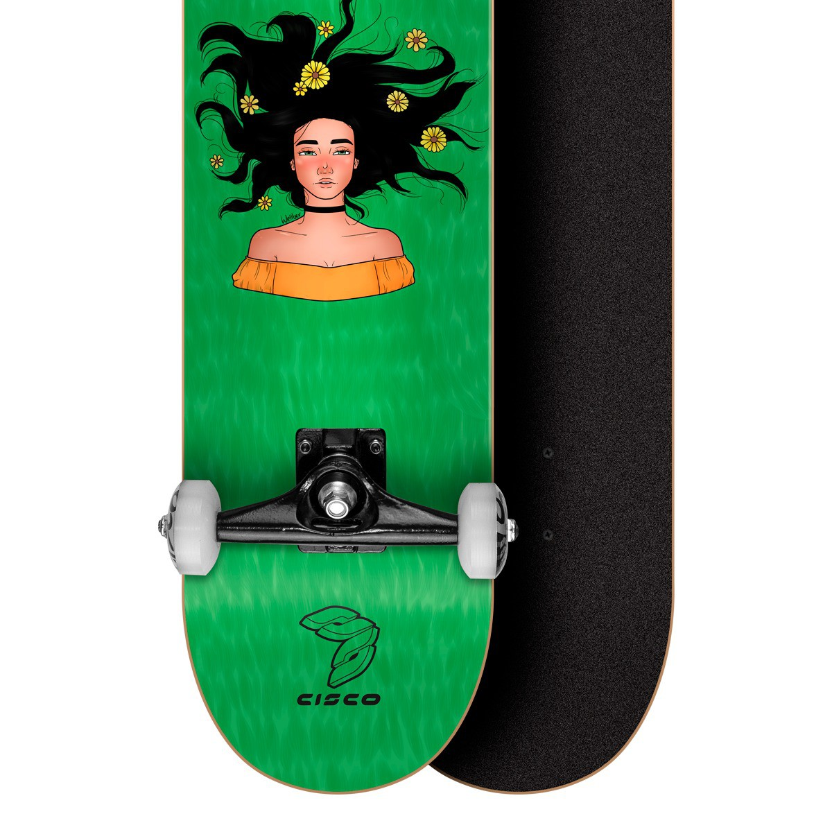 """Skate Montado Profissional Cisco Feminino Freedom 8"""" - Abec 7"""