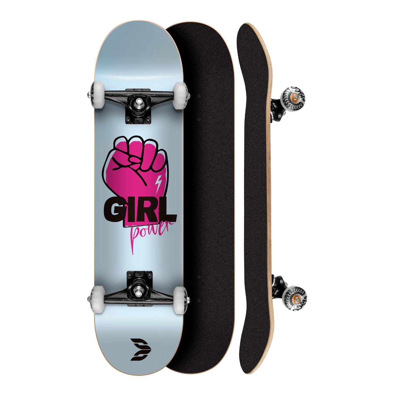 Skate Montado Profissional Cisco Feminino Power 8.0 - Abec 5