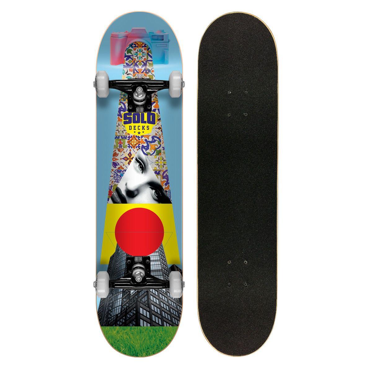 Skate Montado Profissional Solo Decks Colagem #3