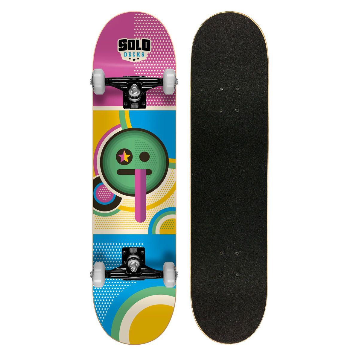 Skate Montado Profissional Solo Decks Pop Art 1 - Até 120kgs