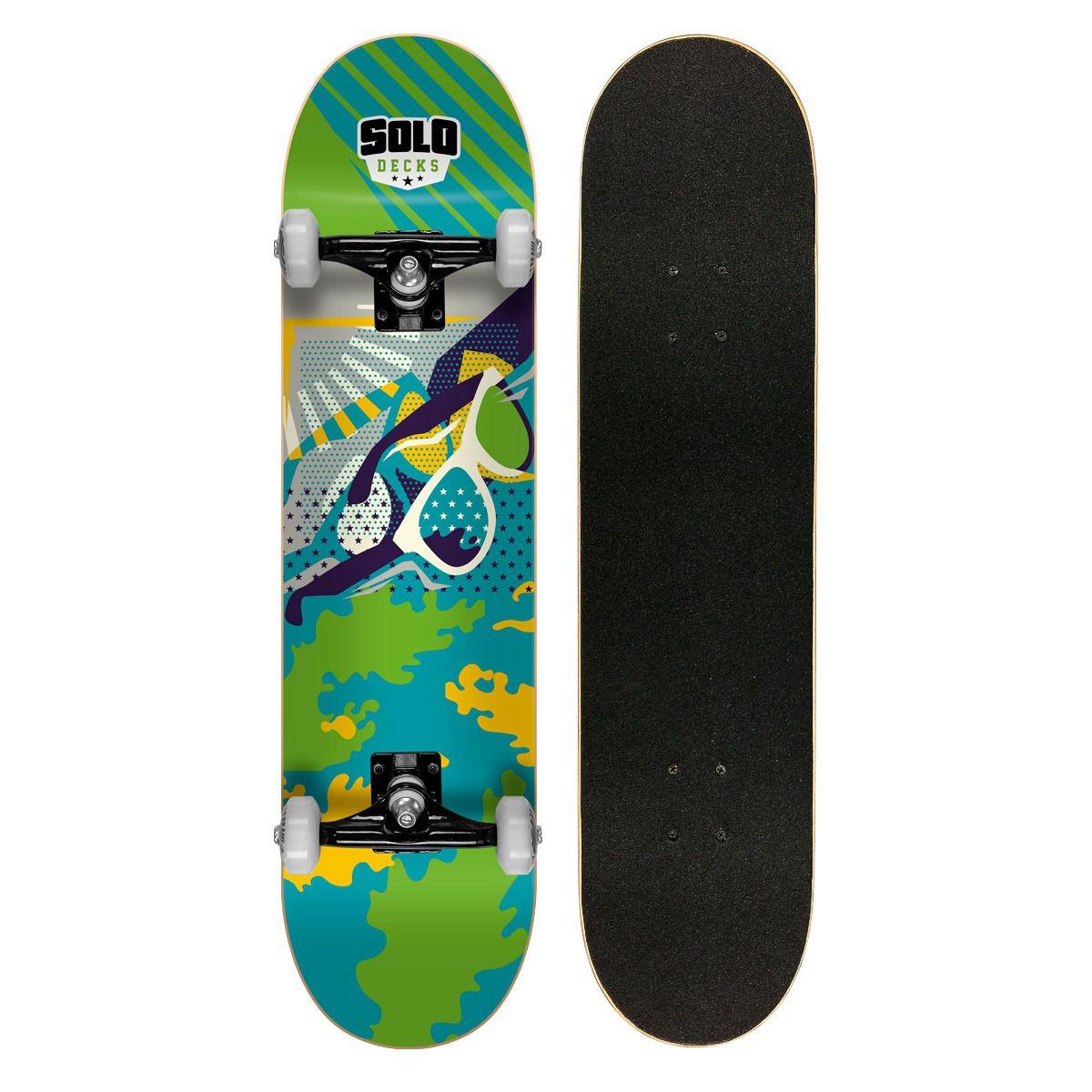 Skate Montado Profissional Solo Decks Pop Art 3 - Até 120kgs