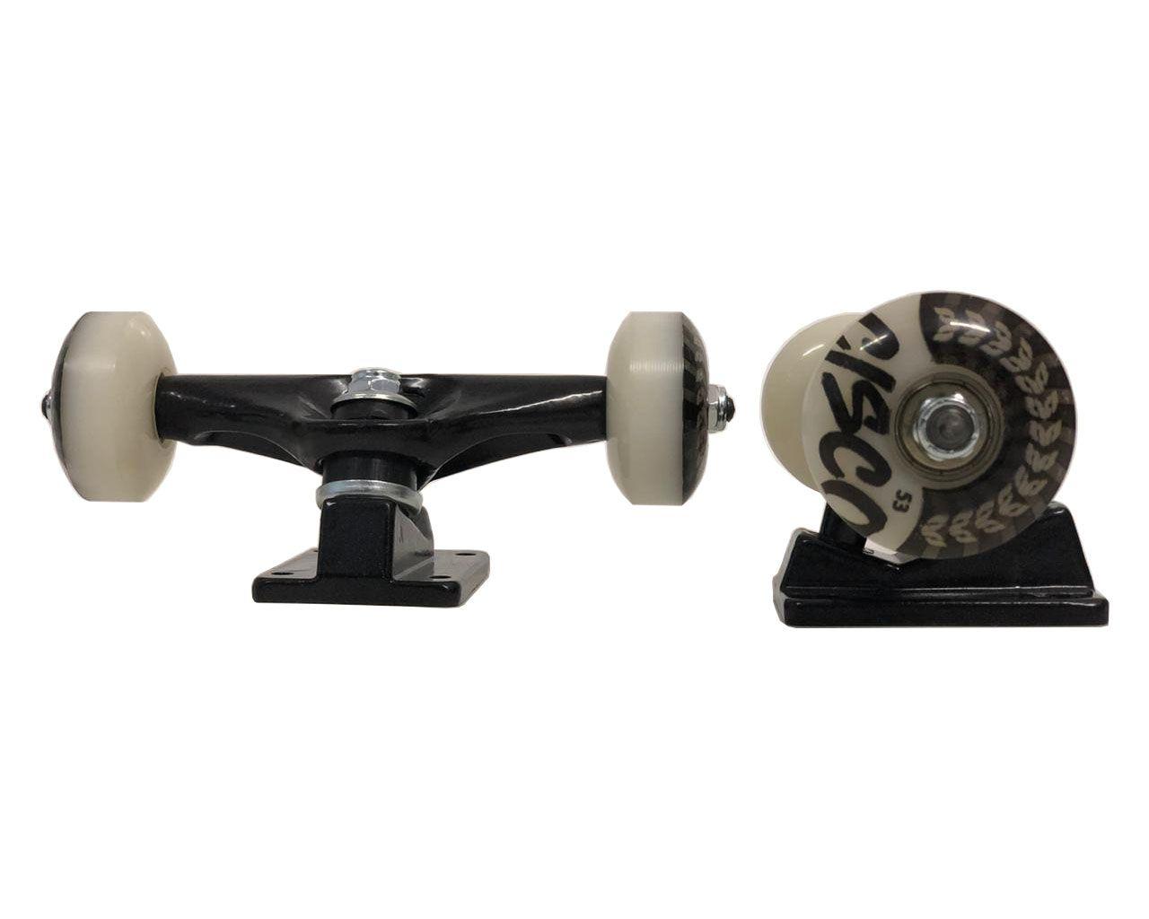 Truck para skate  Profissional 129mm + jogo de Rodas 53mm