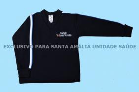 Blusão Moleton Fechado Sem Capuz Colégio Santa Amália Saúde
