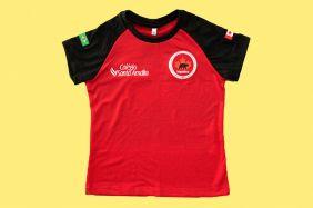 Camiseta Babylook Manga Curta Vermelha Colégio Santa Amália Maple Bear Ensino Fundamental II (Somente Fund II)