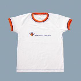 Camiseta Manga Curta Branco Colégio Augusto Laranja (Somente E. Infantil e Fund I)