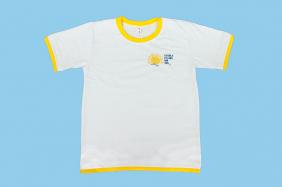 Camiseta Manga Curta Branco Filhos do Sol Ensino Fundamental