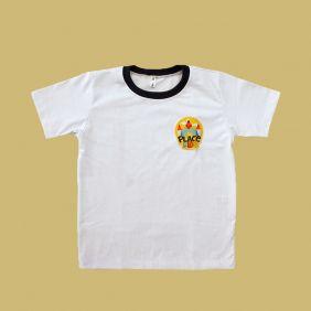 Camiseta Manga Curta Branco Place Kids