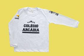 Camiseta Manga Longa Branco Arcádia