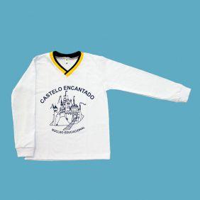Camiseta Manga Longa Branco Castelo Encantado