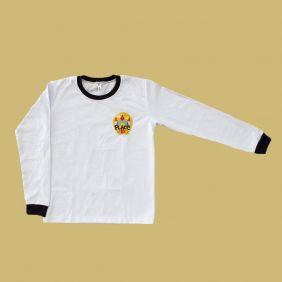 Camiseta Manga Longa Branco Place Kids