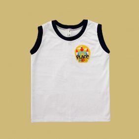 Camiseta Regata Branco Place Kids