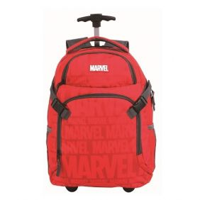 MARVEL RED: MALA ESCOLAR GL C/ RODINHAS